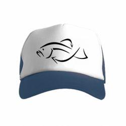 Детская кепка-тракер Силуэт рыбы