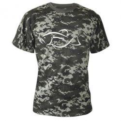 Камуфляжная футболка Силуэт рыбы - FatLine