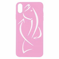 Чехол для iPhone X Силуэт рыбы - FatLine