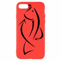 Чехол для iPhone 8 Силуэт рыбы - FatLine