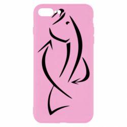 Чехол для iPhone 8 Plus Силуэт рыбы - FatLine