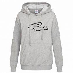 Женская толстовка Силуэт рыбы - FatLine