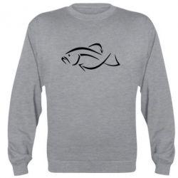 Реглан (свитшот) Силуэт рыбы - FatLine