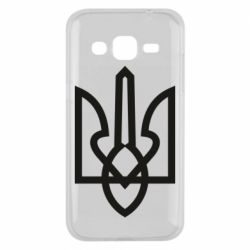 Чехол для Samsung J2 2015 Simple coat of arms with sharp corners
