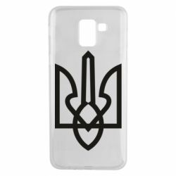 Чехол для Samsung J6 Simple coat of arms with sharp corners