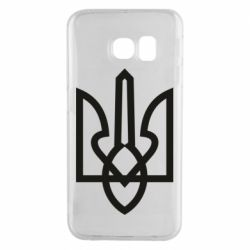 Чехол для Samsung S6 EDGE Simple coat of arms with sharp corners