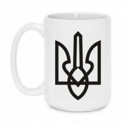Кружка 420ml Simple coat of arms with sharp corners