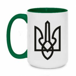 Кружка двухцветная 420ml Simple coat of arms with sharp corners