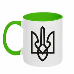Кружка двухцветная 320ml Simple coat of arms with sharp corners