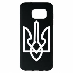 Чехол для Samsung S7 EDGE Simple coat of arms with sharp corners