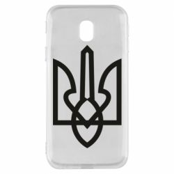 Чехол для Samsung J3 2017 Simple coat of arms with sharp corners