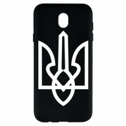 Чехол для Samsung J7 2017 Simple coat of arms with sharp corners