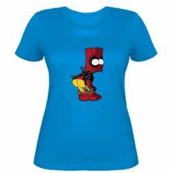 Жіноча футболка Simpson Kiss my Ass Deadpool