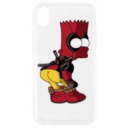 Чохол для iPhone XR Simpson Kiss my Ass Deadpool