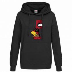 Толстовка жіноча Simpson Kiss my Ass Deadpool