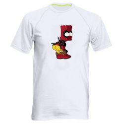 Чоловіча спортивна футболка Simpson Kiss my Ass Deadpool