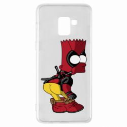 Чохол для Samsung A8+ 2018 Simpson Kiss my Ass Deadpool