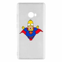 Женская стрейчевая футболка Simpson superman