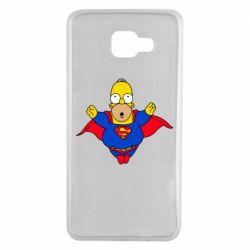 Чехол для Samsung A7 2016 Simpson superman