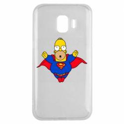 Чехол для Samsung J2 2018 Simpson superman