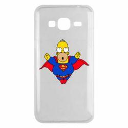 Чехол для Samsung J3 2016 Simpson superman