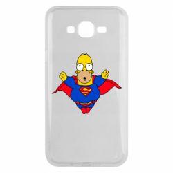 Чехол для Samsung J7 2015 Simpson superman