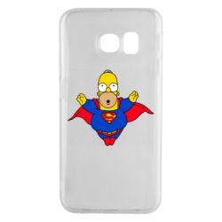Чехол для Samsung S6 EDGE Simpson superman