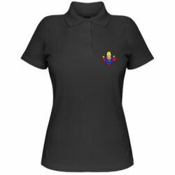 Женская футболка поло Simpson superman