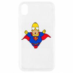 Чехол для iPhone XR Simpson superman