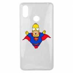 Чехол для Xiaomi Mi Max 3 Simpson superman