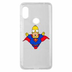 Чехол для Xiaomi Redmi Note 6 Pro Simpson superman