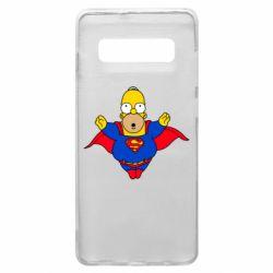Чехол для Samsung S10+ Simpson superman