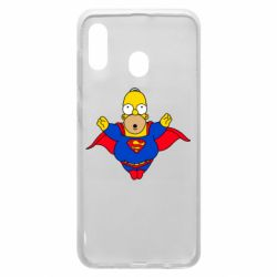 Чехол для Samsung A20 Simpson superman