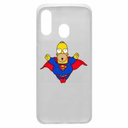 Чехол для Samsung A40 Simpson superman