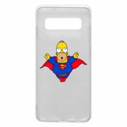 Чехол для Samsung S10 Simpson superman