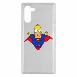 Чехол для Samsung Note 10 Simpson superman