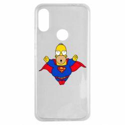 Чехол для Xiaomi Redmi Note 7 Simpson superman