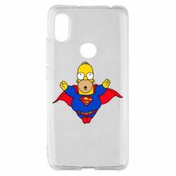 Чехол для Xiaomi Redmi S2 Simpson superman