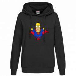 Женская толстовка Simpson superman