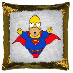 Подушка-хамелеон Simpson superman