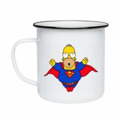 Кружка эмалированная Simpson superman