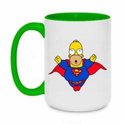 Кружка двухцветная 420ml Simpson superman