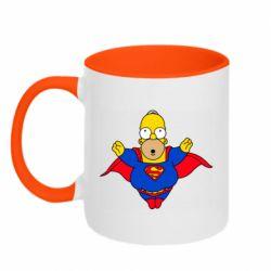 Кружка двухцветная 320ml Simpson superman
