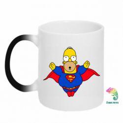Кружка-хамелеон Simpson superman