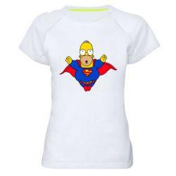 Женская спортивная футболка Simpson superman