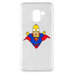 Чехол для Samsung A8 2018 Simpson superman