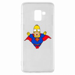 Чехол для Samsung A8+ 2018 Simpson superman
