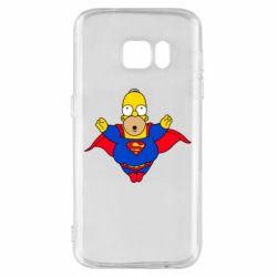Чехол для Samsung S7 Simpson superman