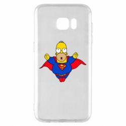Чехол для Samsung S7 EDGE Simpson superman
