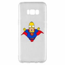 Чехол для Samsung S8+ Simpson superman